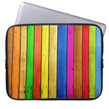 Rainbow strips computer sleeve