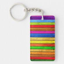 Rainbow strips keychain