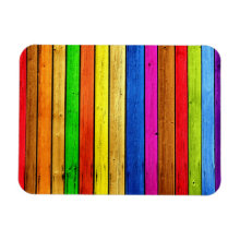 Rainbow strips magnet