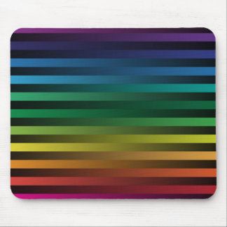 Rainbow Strips Mouse Pad