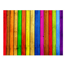 Rainbow strips postcard