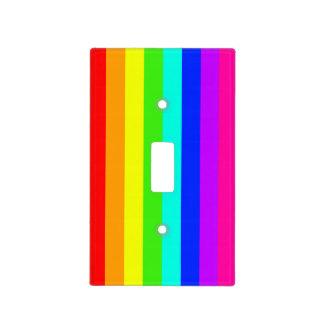 rainbow stripy light switch cover