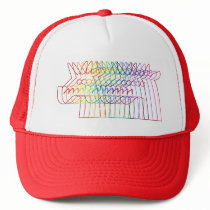 Rainbow Stroke Unicorn Trucker Hat