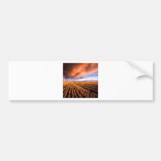 Rainbow Stubble Field Saskatchewan Canada Bumper Sticker