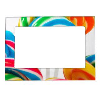 Rainbow Sucker Swirls Magnetic Photo Frame