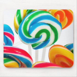 Rainbow Sucker Swirls Mouse Pad