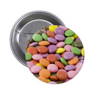 Rainbow sugar candies photograph buttons