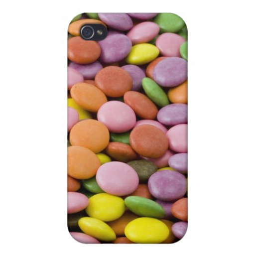 Rainbow sugar candies photograph case for iPhone 4