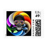 Rainbow Sugar Skull Stamp