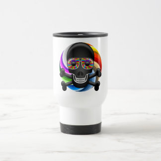 Rainbow Sugar Skull Travel Mug