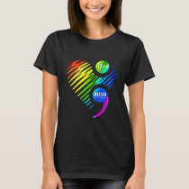 Rainbow Suicide Prevention Awareness Heart T-Shirt