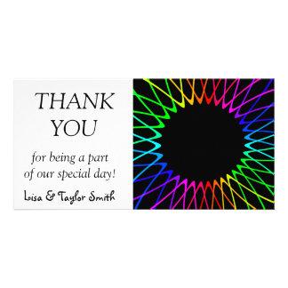 Rainbow sun fractals card