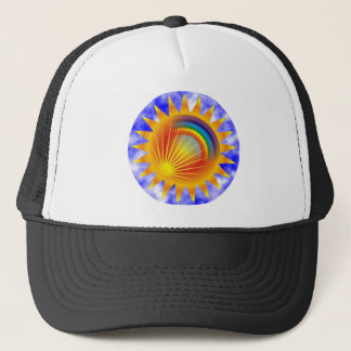 Rainbow Sun Trucker Hat