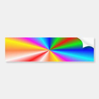 """Rainbow """"sunburst"""" background bumper sticker"""