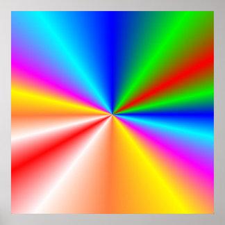 "Rainbow ""sunburst"" background print"
