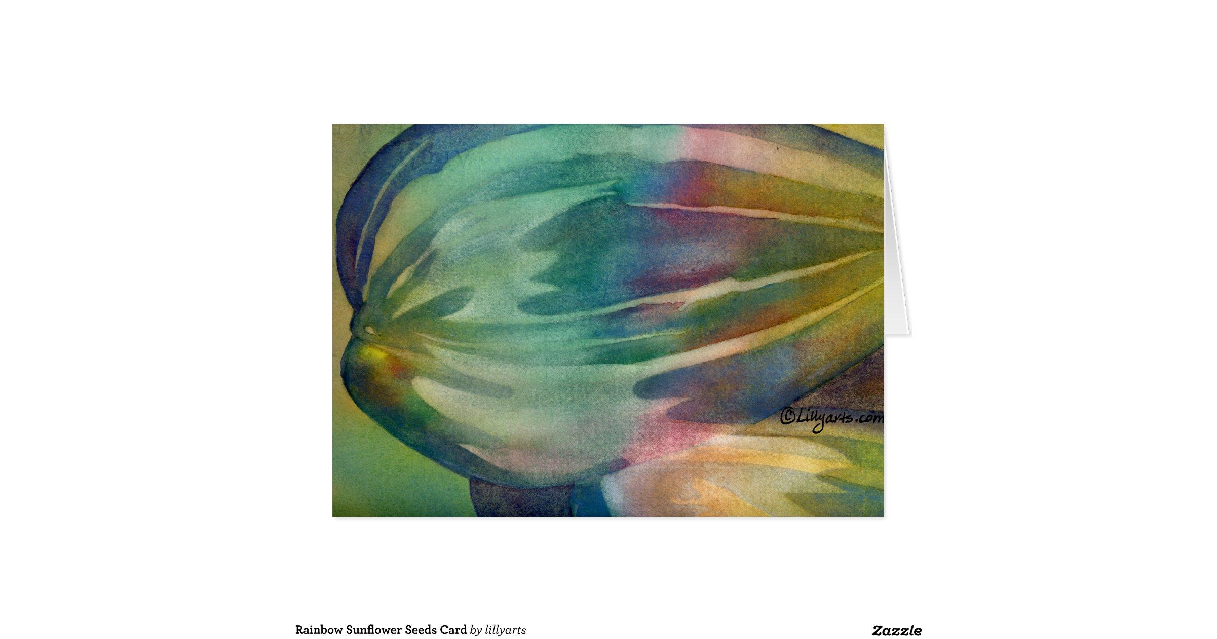 Rainbow sunflower seeds card for Rainbow flower seeds