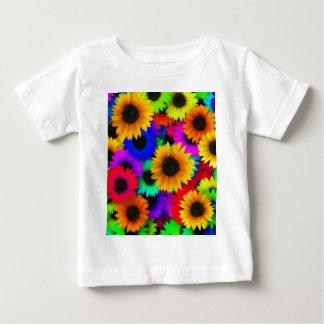 Rainbow sunflowers baby T-Shirt
