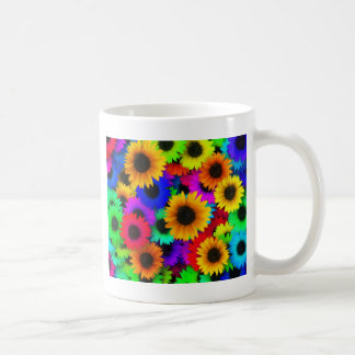 Rainbow sunflowers coffee mug