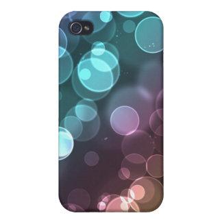 Rainbow Sunset Glitter Bokeh Lights for 4 iPhone 4/4S Case