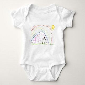 Rainbow Sunshine Friends Baby Bodysuit