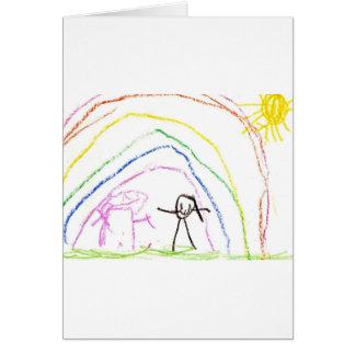 Rainbow Sunshine Friends Card