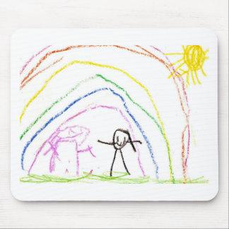 Rainbow Sunshine Friends Mouse Pad