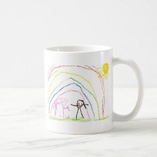 Rainbow Sunshine Friends Classic White Coffee Mug