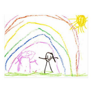 Rainbow Sunshine Friends Postcard