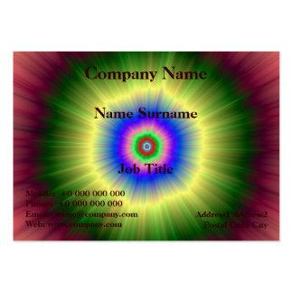 Rainbow Super Nova Large Business Card