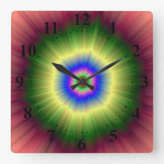 Rainbow Super Nova Wall Clock