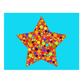 Rainbow Superstar Postcard