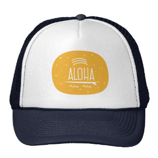 """Rainbow Surfboard Aloha"" Hat"