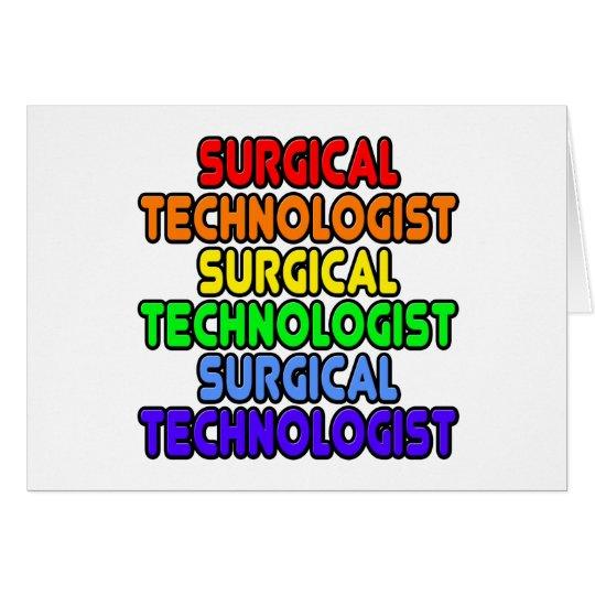 Rainbow Surgical Technologist Card