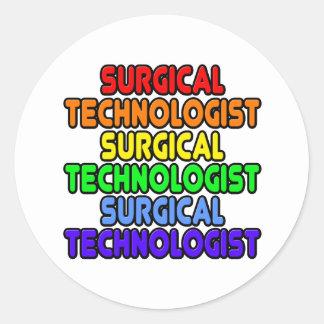 Rainbow Surgical Technologist Classic Round Sticker