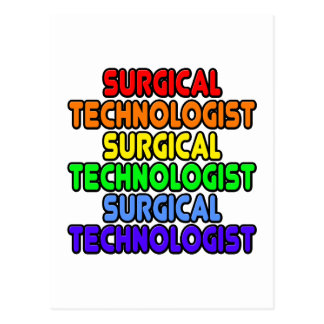 Rainbow Surgical Technologist Postcard