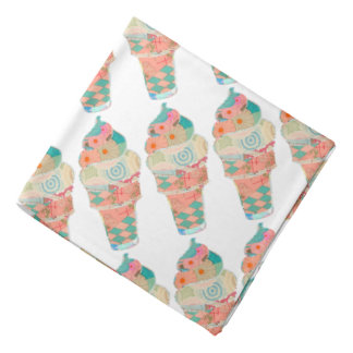 Rainbow Sweet Harajuku Custard Ice Cream Pink Cone Bandana