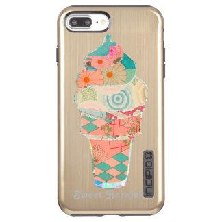 Rainbow Sweet Harajuku Custard Ice Cream Pink Cone Incipio DualPro Shine iPhone 8 Plus/7 Plus Case