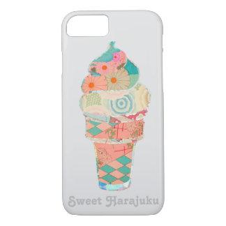 Rainbow Sweet Harajuku Custard Ice Cream Pink Cone iPhone 8/7 Case