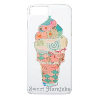 Rainbow Sweet Harajuku Custard Ice Cream Pink Cone iPhone 8 Plus/7 Plus Case