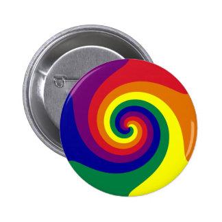 Rainbow Swirl 2 Inch Round Button