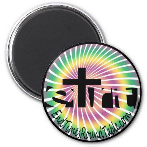 Rainbow Swirl 2 Inch Round Magnet