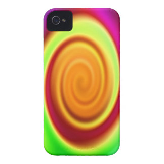 Rainbow Swirl Abstract Pattern iPhone 4 Case-Mate Cases