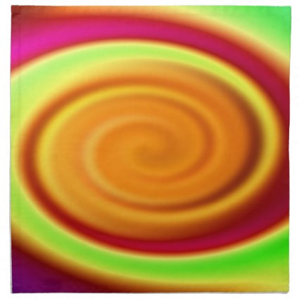 Rainbow Swirl Abstract Pattern Cloth Napkin