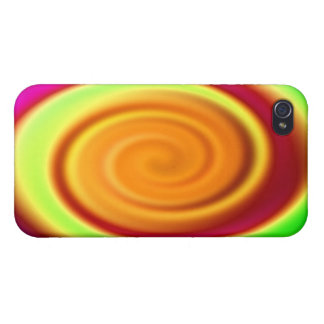 Rainbow Swirl Abstract Pattern iPhone 4 Cases
