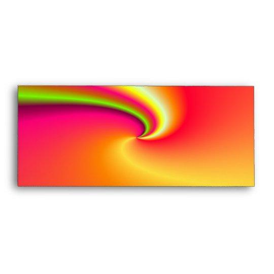 Rainbow swirl background envelope