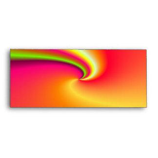 Rainbow swirl background envelopes