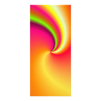 Rainbow Swirl Background Rack Card