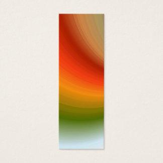 Rainbow Swirl Bookmark Mini Business Card