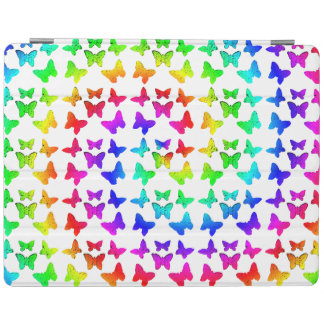 Rainbow Swirl Butterflies iPad Cover