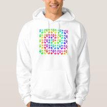 Rainbow Swirl Butterfly Pattern Hoodie